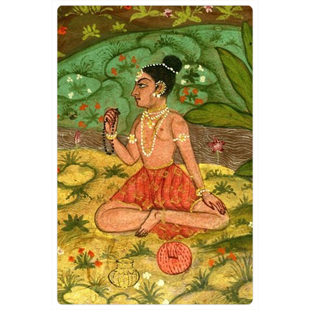 "Yogini with Japa Beads 4x6"" Art Magnet"