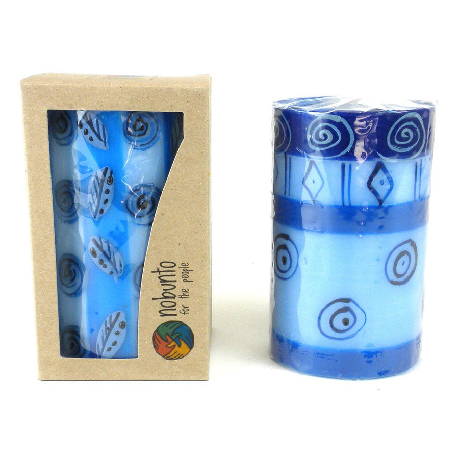 Hand Painted Candle - Single in Box - Feruzi Design - Nobunto (Fair Trade)