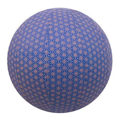 Yoga Ball Cover Size 55cm Design Colbalt Geometric - Global Groove (Fair Trade)