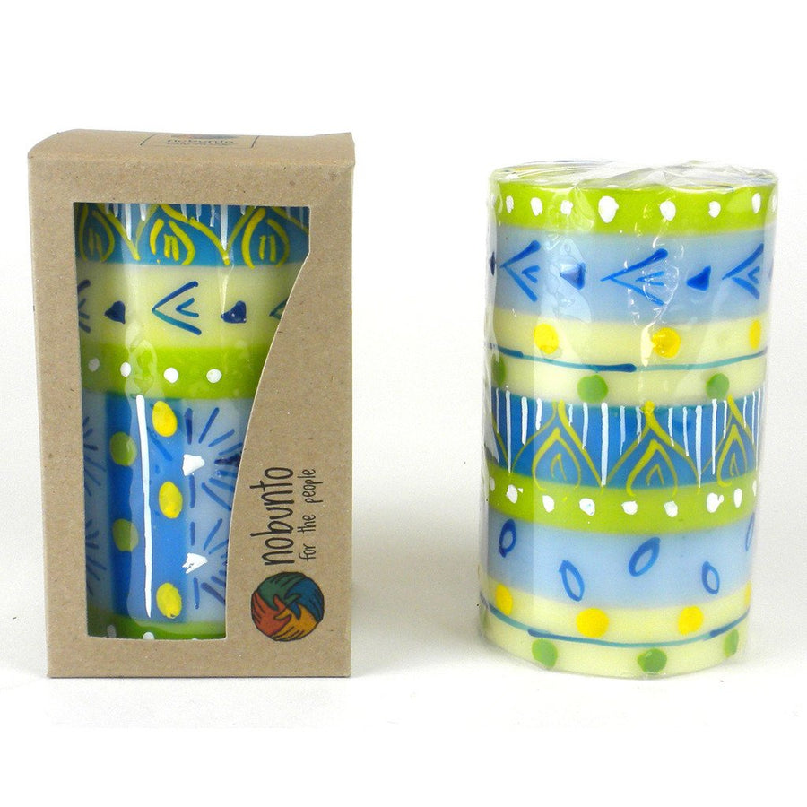 Hand Painted Candle - Single in Box - Ihlobo Design - Nobunto (Fair Trade)