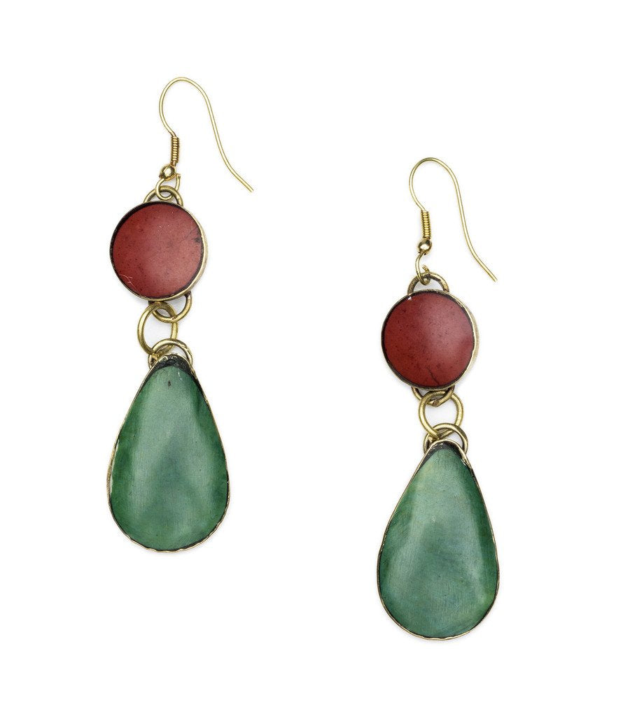 Tara Stone Dangle Earring - Matr Boomie (Fair Trade)