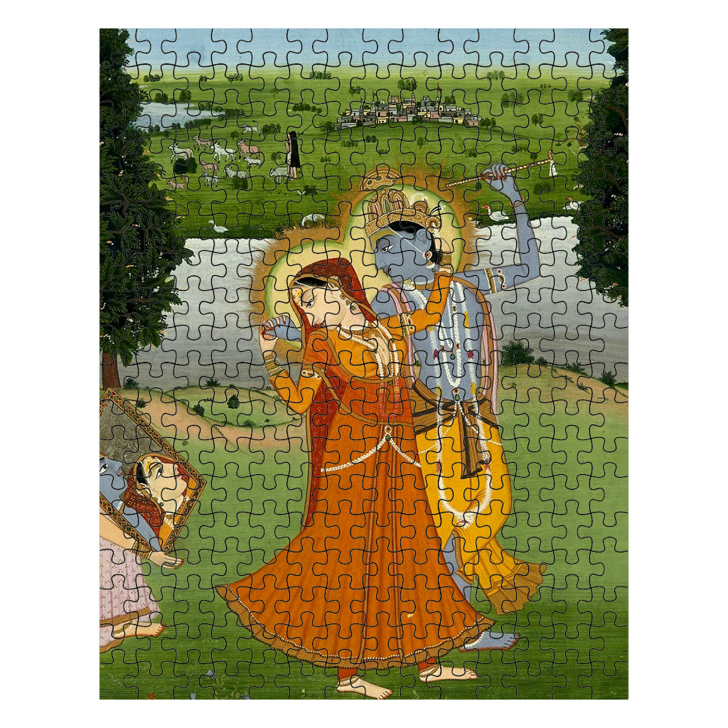 Radha and Krishna Fine Art Puzzle