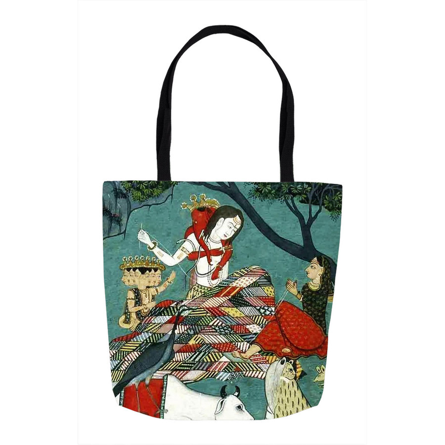 Shiva and Family Tote Bags