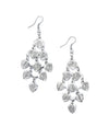 Falling Leaves Earrings - Silvertone - Matr Boomie (Fair Trade)