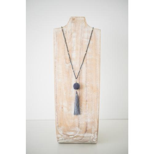 The Wanderer Tassel Necklace, Steel - Aid Through Trade