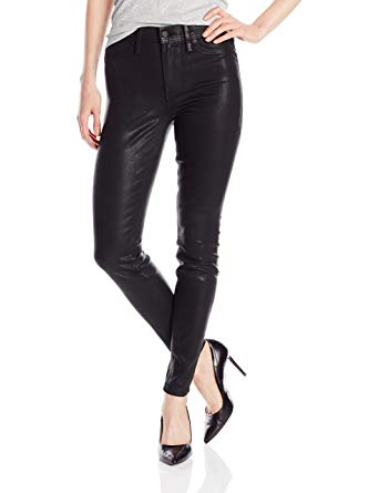 Level 99 Tanya High Rise Black Leather Look Pant