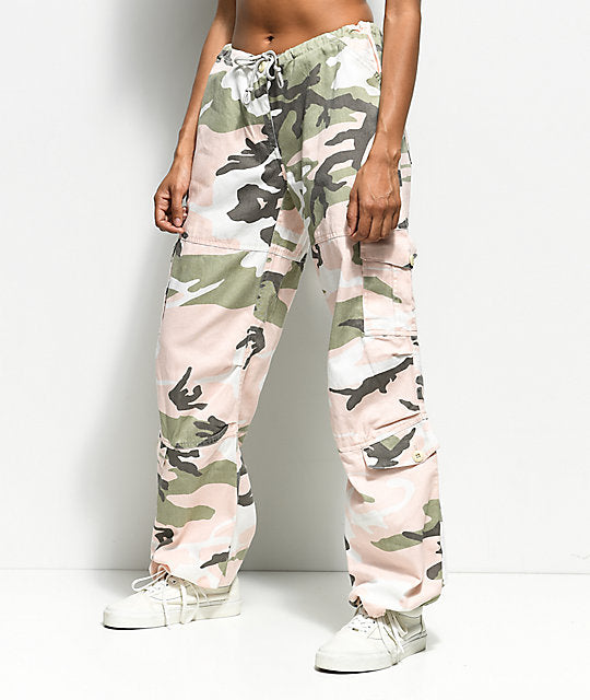 Rothko - Tri Color Vintage Paratrooper Subdued Pink Camo Fatigues