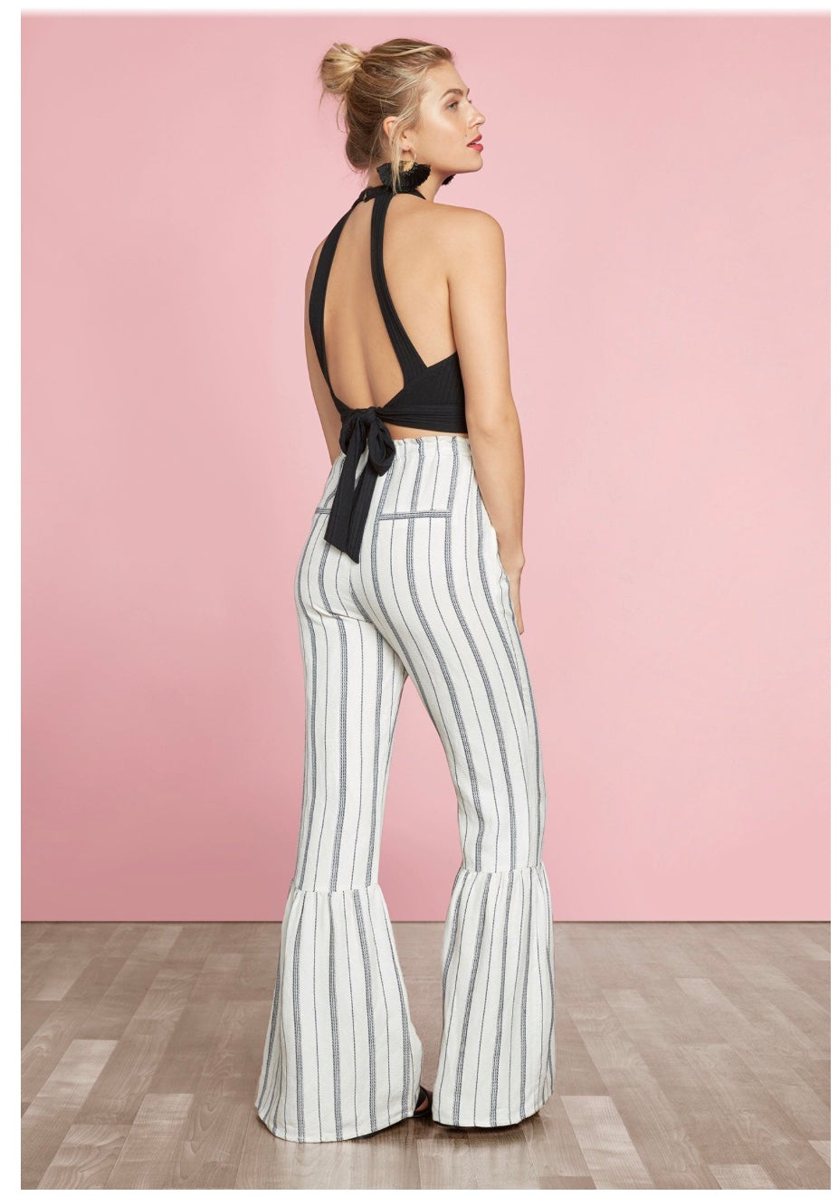 Stripe Ruffle Flare Pant by Willow & Clay