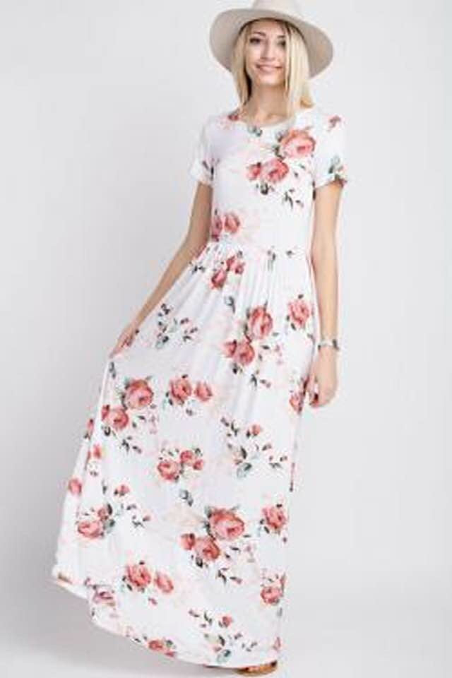 Mon Ami - Cross Back Maxi Floral Dress by 12PM