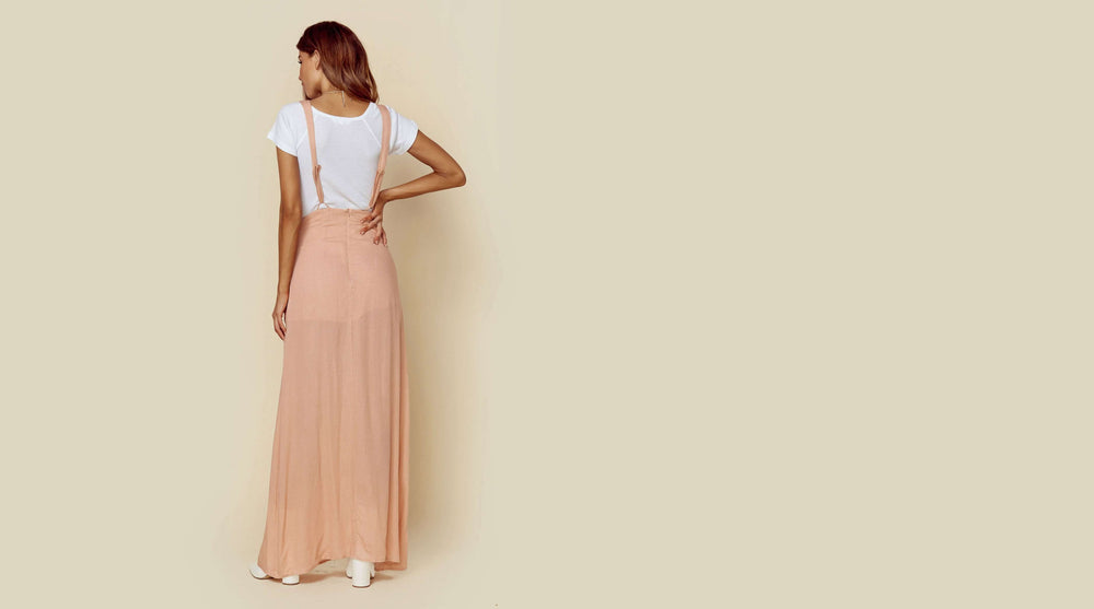 Sage the Label Maxi Overall Skirt