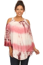 Tie Dye Back Key Hole PS by T-Party Plus Size