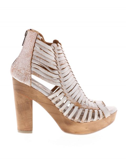 Sbicca Multi Thin Distressed Strap Wooden Heel