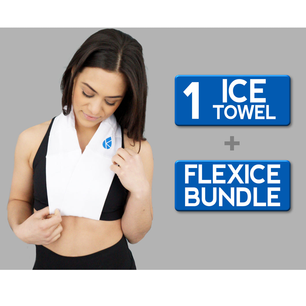 Ice Towel + FlexIce Bundle - Arctic White