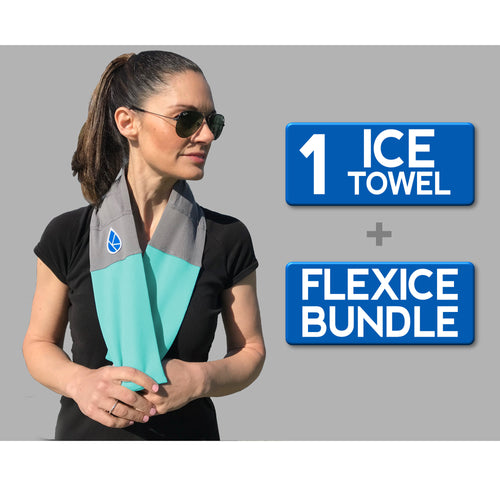Ice Towel + FlexIce Bundle BaliBlue