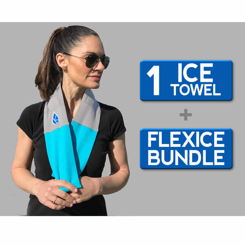 Ice Towel + FlexIce Bundle Scuba Blue