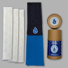 The koldtec ice towel in Royal and Navy Blue. The world's coldest cooling towel by koldtec.