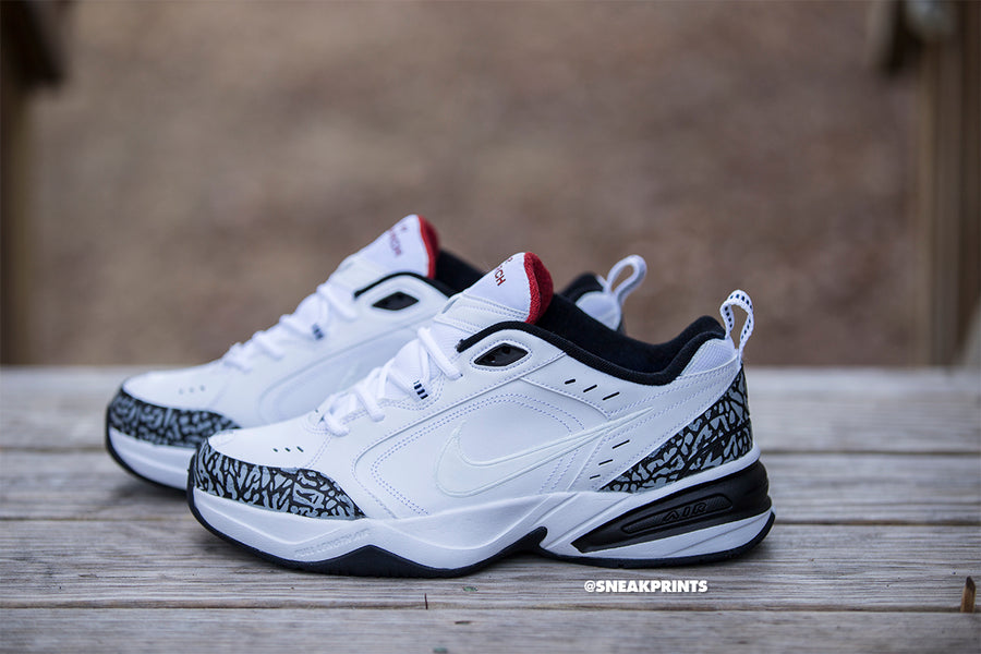 "Nike Air Monarch Custom ""White Cement"""