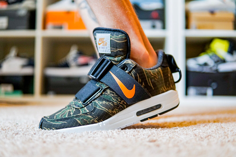 "Nike Air Max 1 / Air Force 1 Sole Swap ""Jungle Tiger"""