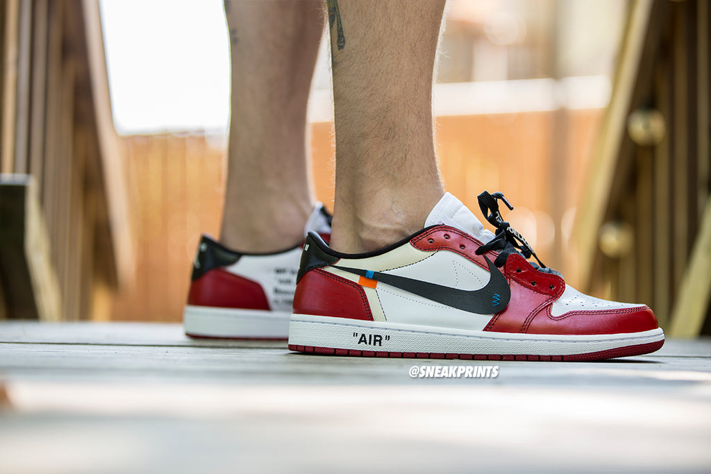 "Jordan 1 Low Custom Off White ""Chicago"""