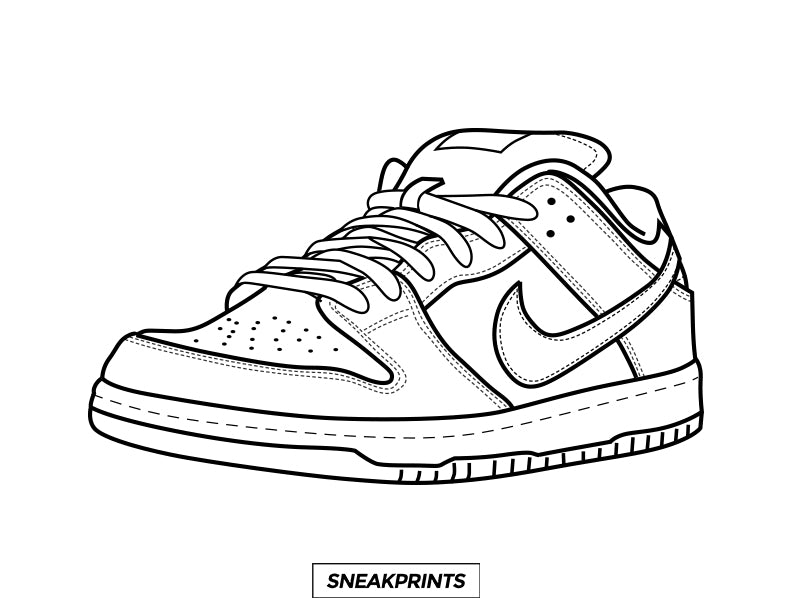 FREE Sneakprints Sneaker Coloring Pages! – SneakPrints