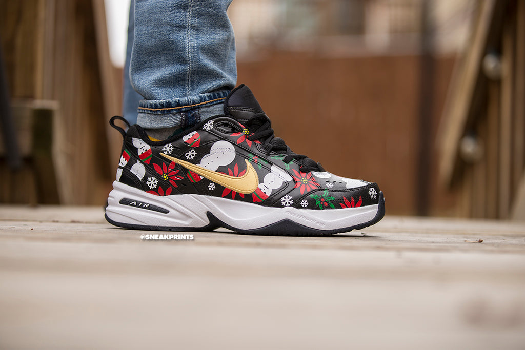 "Nike Air Monarch Custom ""Ugly Christmas Sweater"""