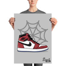 "Jordan 1 High Retro ""Spider Man"" SneakPrints Poster"