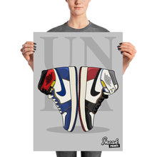 Jordan 1 Union LA Collage SneakPrints Poster