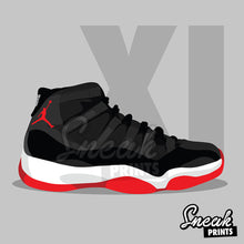 Jordan Bred XI SneakPrints iPhone 6/7 6/7 plus Case