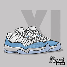 "Jordan 11 Low ""UNC"" SneakPrints iPhone 6/7 6/7 plus Case"
