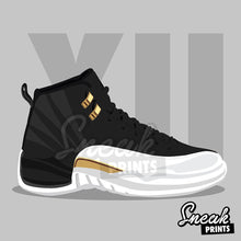 Jordan XII Wings SneakPrints Poster