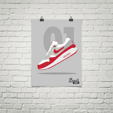 "Air Max 1 ""University Red"" SneakPrints Poster"