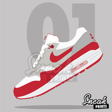 "Air Max 1 ""University Red"" SneakPrints iPhone 6/7 6/7 plus Case"