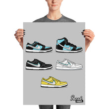 Dunk SB Low Diamond Collage SneakPrints Poster