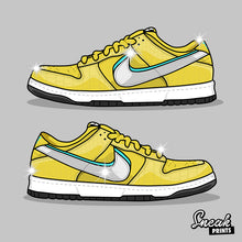 "Dunk SB Low Diamond ""Canary"" SneakPrints Poster"