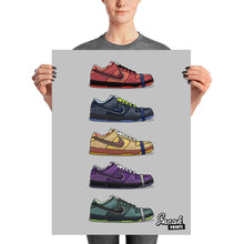 "Dunk SB Low ""Lobster"" Collage SneakPrints Poster"