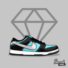 "Dunk SB Low ""Tiffany"" SneakPrints Poster"