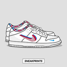 "Dunk SB Low ""Parra"" SneakPrints Poster"