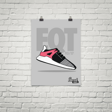 "Adidas EQT Support 93/17 ""Turbo Red"" SneakPrints Poster"
