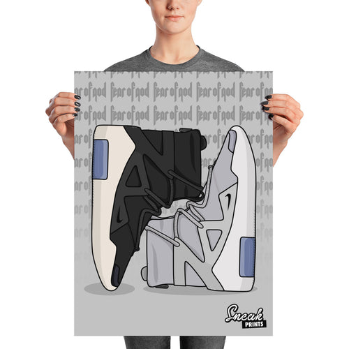 Air Fear of God 1 Collage SneakPrints Poster