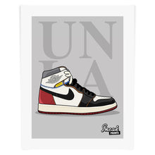 "Jordan 1 Union LA ""Black Toe"" SneakPrints Poster"