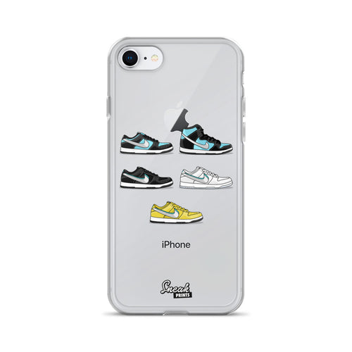 Dunk SB Low Diamond Collage SneakPrints iPhone 6/7/8/X Case