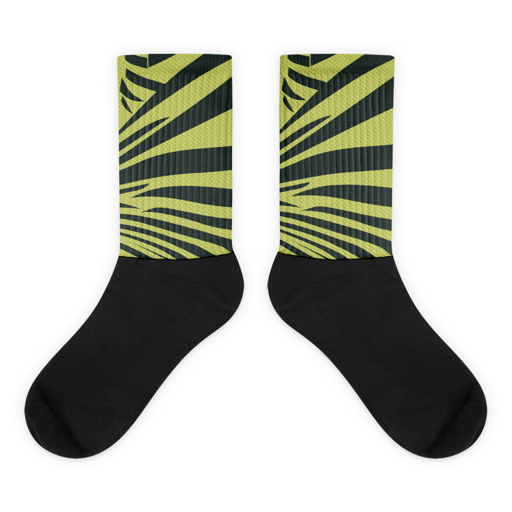 Frozen Yellow Yeezy SneakPrints Socks