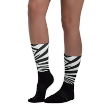 Zebra Yeezy SneakPrints Socks