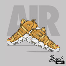 "Nike Air More Uptempo Gold ""Suptempo"" Stuffed Pillow"