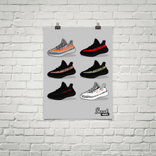 Adidas Yeezy v2 SneakPrints Poster