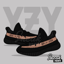 "Adidas Yeezy v2 ""Copper"" SneakPrints Poster"