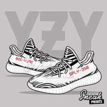 "Adidas Yeezy v2 ""Zebra"" Stuffed Pillow"