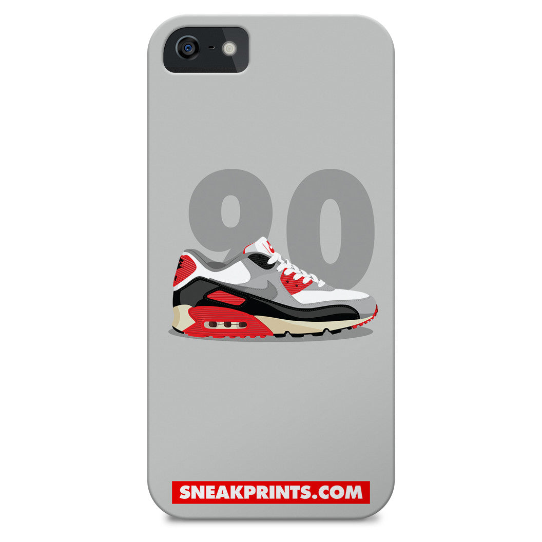 Air Max 90 Infrared SneakPrints iPhone 6/7 6/7 plus Case