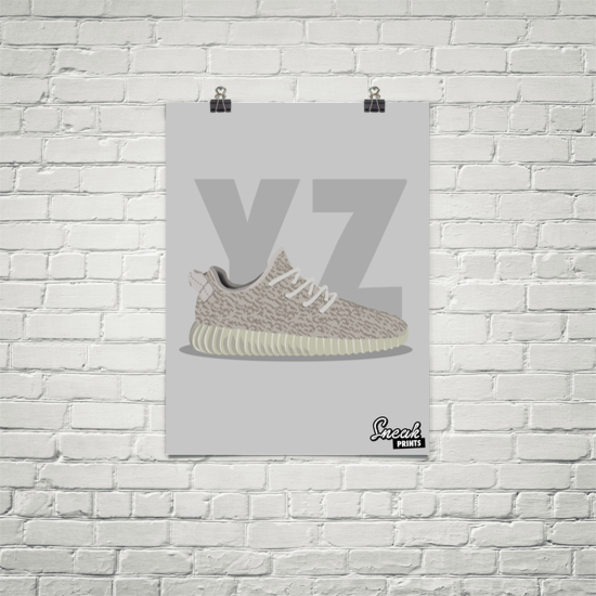 Yeezy Boost 350 Moonrock SneakPrints Poster