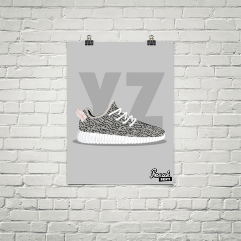 c706252c18bb6 Yeezy Boost 350 Turtle Dove SneakPrints Poster (Unframed)
